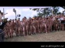 CFNM amateur footage from Roskilde nude run