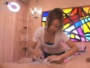 Japanese-girl-cleans-a-huge-dick-at-Penis-Salon