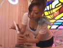 Japanese-girl-uses-vibrator-on-huge-dick-at-Penis-Salon