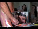 pricasso-cfnm-paints two hot girls that flash their tits