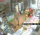 drunk naked guys shopping in convenience store