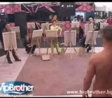 CFNM nude painting challenge on Big Brother