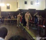 College guys naked battle for female judges