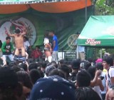 Stripped onstage by dancing hot chicks
