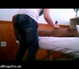 Full massage leads to huge dick handjob relief