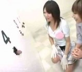 Japanese girl plays a gloryhole guessing game