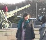 Public streaking for bomber jacket ad