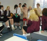 school girls learn male anatomy up close