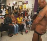 Girls watch stripper Mr. Luscious 's big cock
