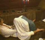 A hidden camera films their oral sex in Czech sauna