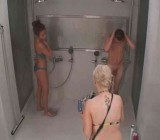 Finnish hotties watch naked men strip & shower