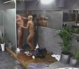 Hot girl teases guy in shower then blows him