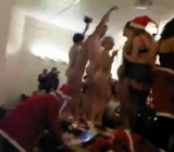 CFNM Xmas event students peeped getting naked