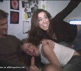 CFNM fun with room full of drunk college girls