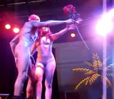 Male & female stripper put on an erotic stage show
