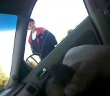 Woman catches exhibitionist jerking it in car