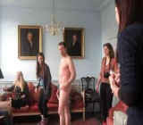 British women hang out & draw naked UK guy