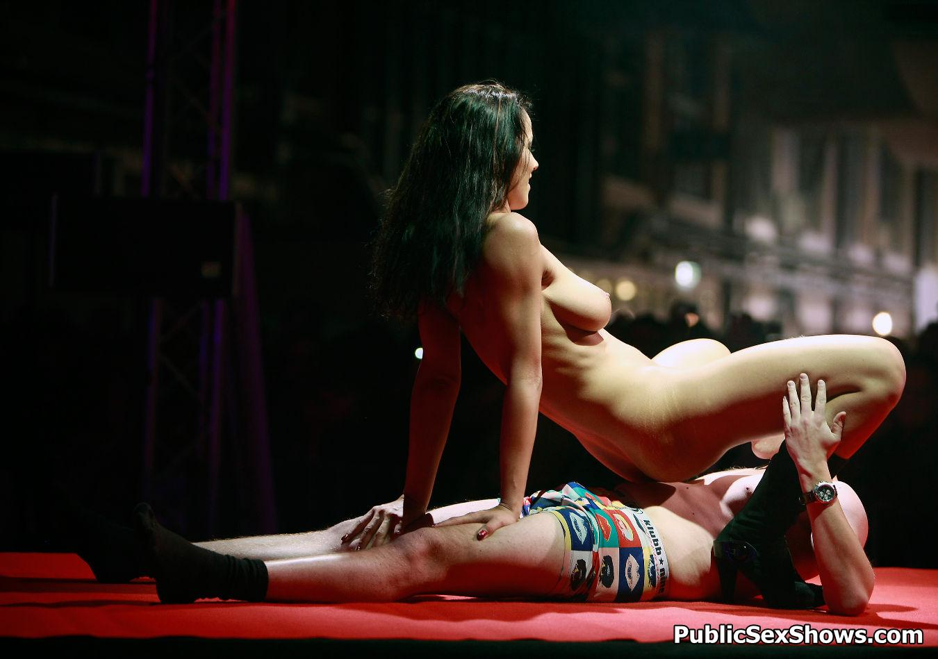 female stripping the men