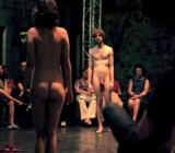 Performance art piece features nude guys