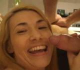 SYST - Hottie gives boyfriend kitchen CFNM hand & blowjob2