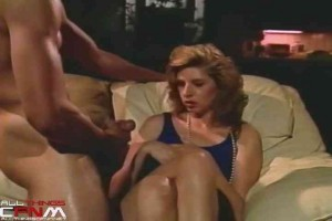 3 MILFs tease & watch guy jerk off at CFNM party