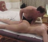Simon massages MILF then gets BJ & sex