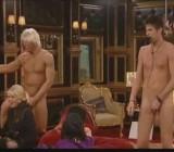 Guys wander around girls naked CFNM in 3 clips