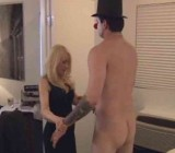 MILF gets Gigilo for CFNM clown fetish sex session