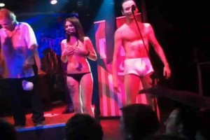 3 amateur couples naked onstage at Russian show