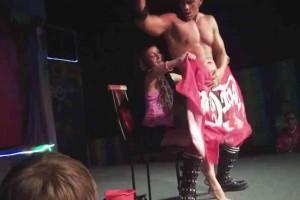 Bulgarian girl jerks dick during striptease