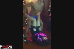 Busty black bachelorette grabs some stripper dick