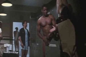 Blond catches Denzel naked in lockeroom
