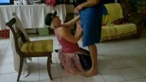 Cute girls get faceful of cock from sailor stripper