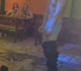 Girls film drunk bar guy get stripped naked for them