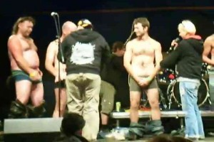 Guys judged by dick size onstage at Czech club