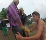Naked Assault Contestant at Roskilde Festival - cam 1