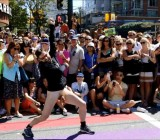 Naked dude walks in Pride Parade in foreskin protest