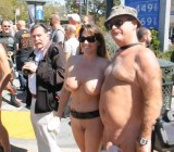 Naked women & men at Castro's Nude In Event