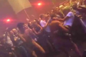 2 guys naked with girls in Russian club strip game