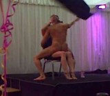 Birthday girl & Mom get facefulls of stripper cock