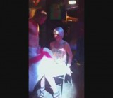 British girls in lingerie get frisky with stripper at party