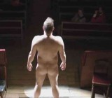 German women watch nude male performance art