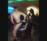 French birthday girl & friends get lap dances