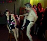 Latina gets naked Bernard Z Grate at her b-day party