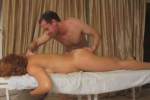 MILF receives sensual massage from erect masseur6