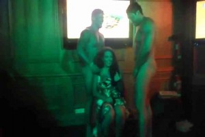 Hot birthday girl gets two male strippers naked10