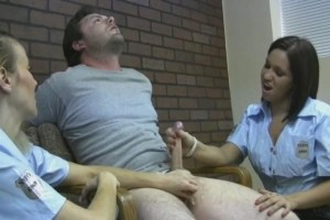 OE-Female police interrogate and force guy to cum5