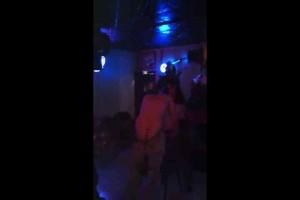 Voluptuous girls give guy lapdances then strip & belt his ass6