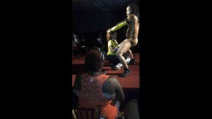 Black women feel up on stripper Caution & play with cock