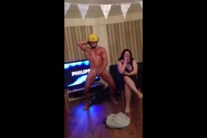 British bachelorette gets freaky with fireman stripper